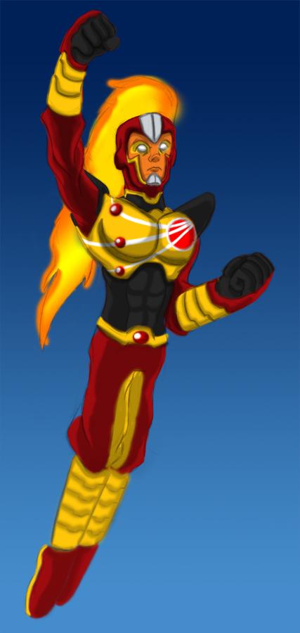 Comic Issues Render: Firestorm